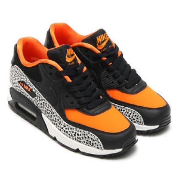 Nike Air Max 90 Safari GS Black Orange
